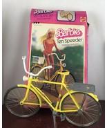 Vintage 1975 Barbie Yellow Ten Speeder Bicycle( Missing  Basket) With Box - $14.03