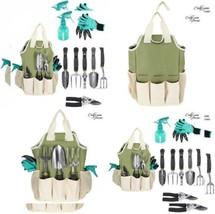 Garden Tool Set | Tools Organizer Tote | Gardening Gloves Green  - $46.40