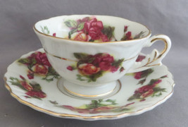 Gorgeous Shafford Teacup And Saucer Demitasse Roses - $5.00