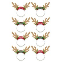 Santa's Reindeer Headbands 8 Per Package - €8,11 EUR