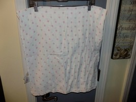 ADEN AND ANAIS Swaddle Muslin Cotton Blanket PINK STARS EUC - $16.20