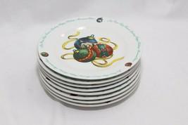 "Atico Yuletide Traditions Xmas Ornaments Salad Dessert Plates 7.5""  Lot ... - $58.79"