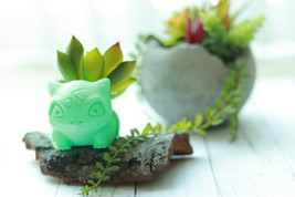 Bulbasaur Planter Realistic, Pokemon Planter, Succulent Planter Many Colors - $8.76+