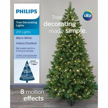 Philips 210ct 8 function Christmas Tree Decorating LED String Lights Warm White