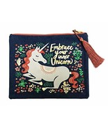 Embrace Your Inner Unicorn Whimsical Canvas Organizing Cosmetic Travel P... - $19.40
