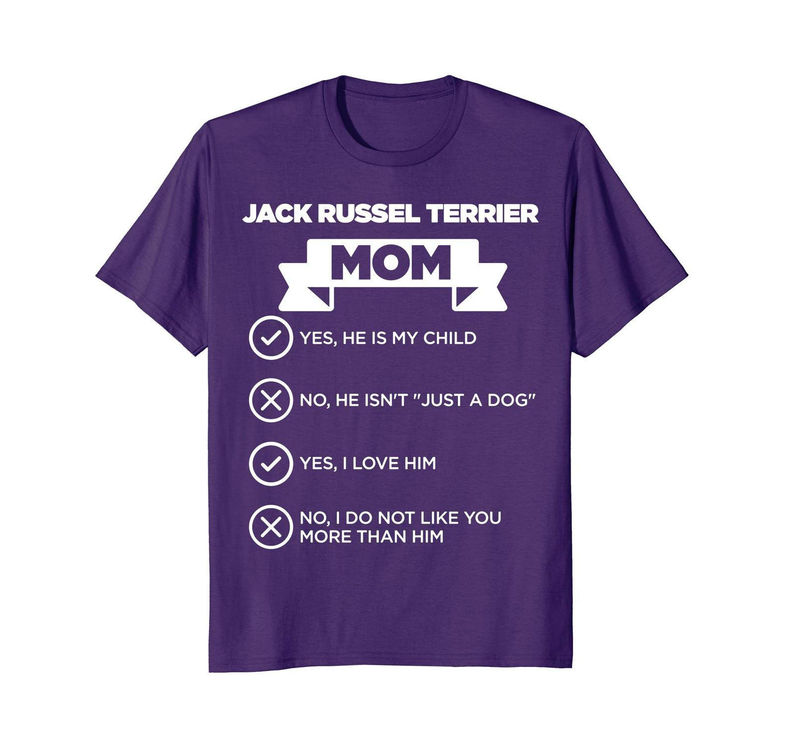 Dog Fashion - Jack Russel Terrier Mom Checklist Funny Dog Lover T-Shirt Men