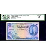 "BRITISH CARIBBEAN TERRITORIES P2  ""MAP NOTE"" $2 1950 PCGS 35 ""KING GEORG... - $1,750.00"