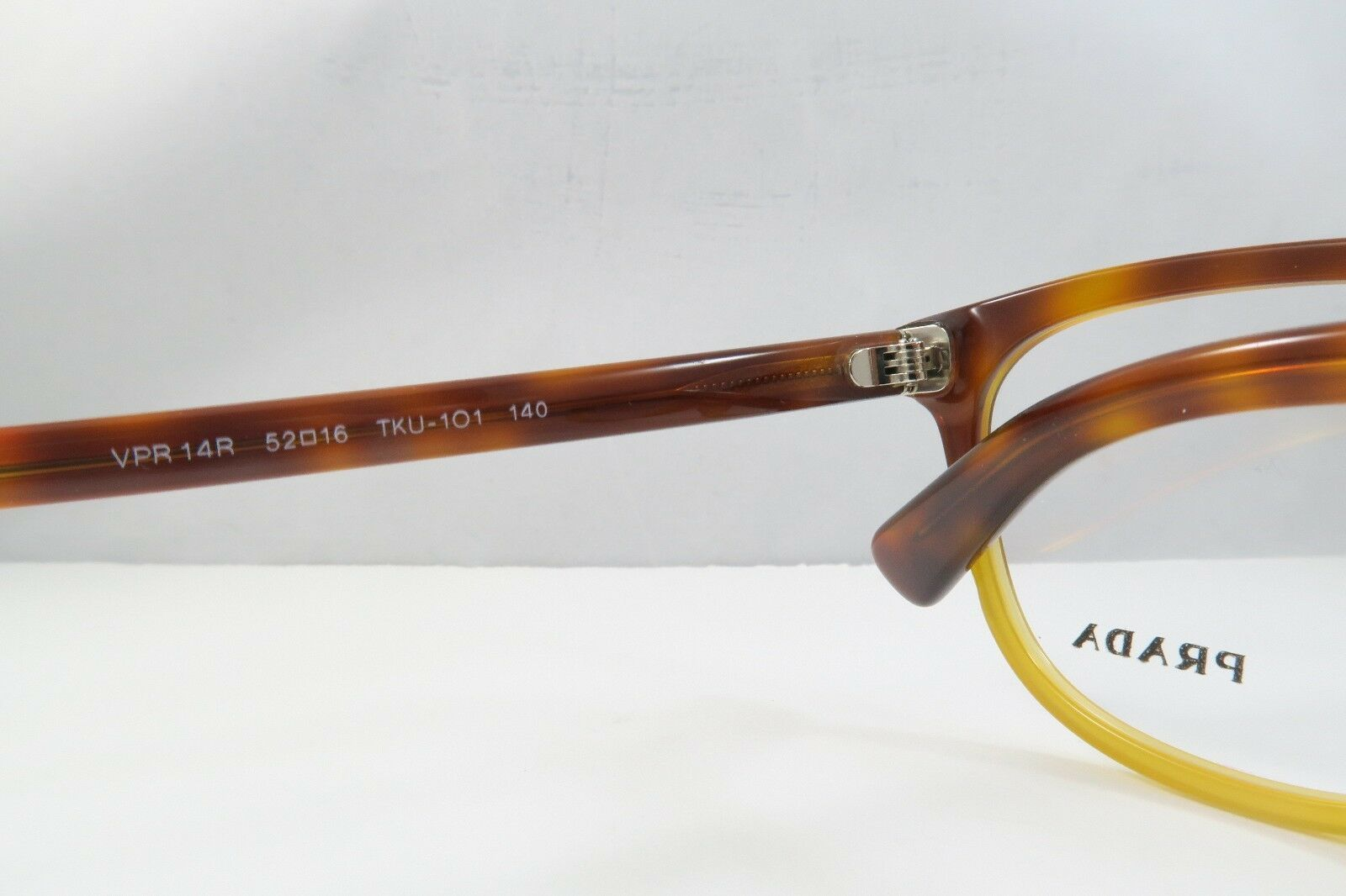 Prada Women's Tortoise Eyeglasses with Case 52mm VPR 14R TKU-1O1