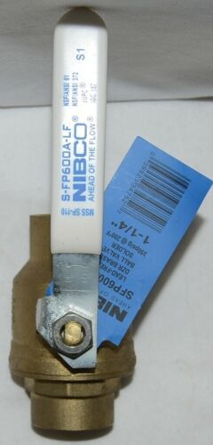 Nibco S FP600A Lf 1 1/4 Inch Solder Lead Free Ball Valve Full Port