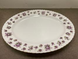 "Royal Albert Sweet Violets Bone China 15"" Oval Serving Platter - $76.44"