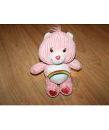 "8"" Terry Cloth Cheer Bear Care Bear Bean Bag Plush Animal Pink Rainbow T... - $15.00"