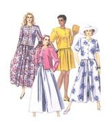 90s Vtg McCalls Sewing Pattern 5811 Misses Dress Top Skirt Culottes 10-1... - $6.95