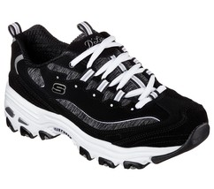 11936 EW Wide Fit Black Dlites Skechers shoes Women Sport Memory Foam Sn... - $77.05