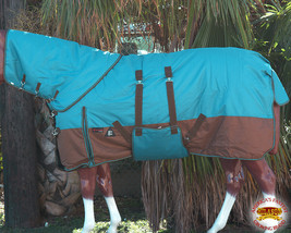 "84"" Hilason 1200D Waterproof Winter Horse Neckcover Blanket Belly Wrap U-G-84 - $114.99"