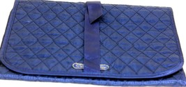Authentic Christian Dior Royal Blue Silk Makeup Accessories Clutch Bag P... - $117.81