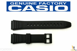 CASIO AW-49H Original 19mm Black Rubber Watch Band Strap AW-49HE - $15.95