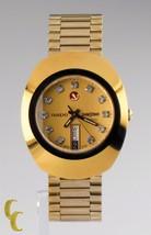 Rado Diastar Magique Jour / Date Ton Doré Watch W/Swarovski Hour Marqueurs - $1,035.72