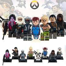 8pcs/set Overwatch Minifigures Genji Ana Amari Mei JunkRat Hanzo Figure Lego Toy - $12.99