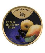 Cavendish & Harvey hard drop Pear Blackberry Drops Candy, 5.3 oz tin Cas... - $44.99
