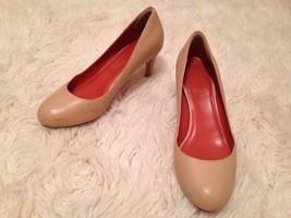 Cole Haan 8 B Leather Nude Beige Brown Pumps Round Toe Heels - $24.70