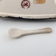 Vintage Butter Dish and Salt with small spoon Lenwile and Ardalt Japan 40's image 9