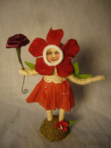 Vintage Inspired Spun Cotton Antique Looking Sweetheart Flower Girl no. V9A  image 1