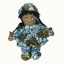 "Vintage Handmade African American Rag Doll Stuffed Plush 1960s 14"" Toy J... - $21.78"
