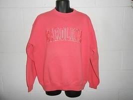Pink Embroidered Carolina Crewneck Sweatshirt L - $14.99