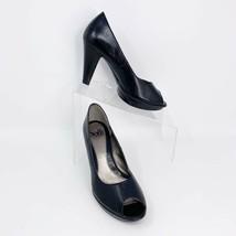 Sofft Womens Black Leather Peep toe Platform Comfort Pumps, Size 6 - $29.65