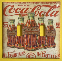 5 Cents Coke Bottles Old Poster Light Switch Outlet Wall Cover Plate Home Decor image 8