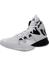 adidas Mens Dual Threat 2017 Basketball, White/Core Black/White, Size 11.0 - $82.48