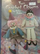 Crochet Pattern Leaflet Two Crochet Clowns Akiko Abdoo Leisure Arts Toys Dolls - $7.91