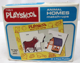VINTAGE 1978 PLAYSKOOL MATCH-UP ANIMAL HOMES PUZZLE GAME IN BOX  - $9.45
