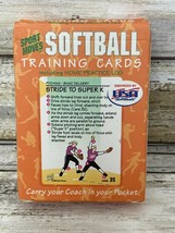 SOFTBALL Training Cards---Sport Moves 120 Individual Lessons Home Practice  - $7.69