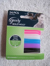 14 Goody Jelli Bold All Day Hold Stay Secure Slide Proof Elastic Hair Bands Hot - $7.00