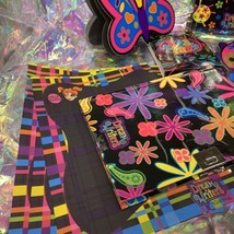 Lisa Frank Dream Writers Lot Ladybug Butterfly Sheets Notebooks Diary With Lock image 2