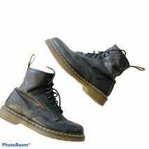 Doc Martens 1460 Black Smooth Leather Lace Up Boots Womens Size 10 Men Sz 9 - $118.79