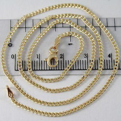 CHAIN YELLOW GOLD 750 18K, 45 CM, MINI GRUMETTA, GROUMETTE, DIAMETER 1.5 MM