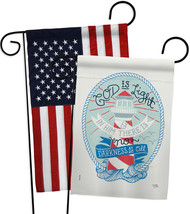 God is Light - Impressions Decorative USA Applique Garden Flags Pack GP103069-BO - $30.97