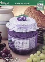 Decorative Grape Jelly Jar Plastic Canvas Pattern Leaflet TNS NEW - $1.77