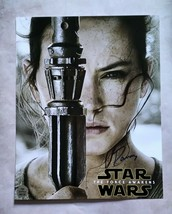 Daisy Ridley Hand Signed 8x10 Photo COA Star Wars - $179.99