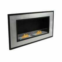 "WOLFIRE® 47"" Wall Mount Ethanol Fireplace Heater w/Ventless 2Burner Inse... - $549.00"