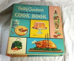 Vintage Betty Crocker's New Picture Cookbook 1961 5-Ring Binder First Ed... - $108.89