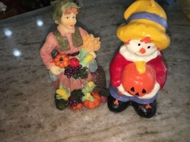 Fall Figurine Pumpkins Rare - $22.54