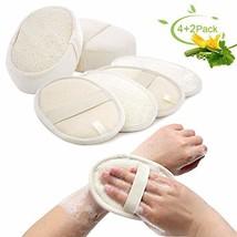 6 Loofah Sponge Pad, Natural Exfoliating Loofah Sponge Pads for Men and ... - $15.03