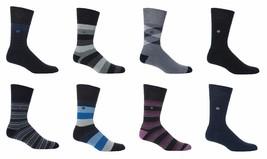 Gentle Grip - 6 paires homme rayées pied rembourré chaussettes sans élastique - $5.86