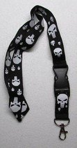 Skull NO Crossbones Black/White LANYARD KEY CHAIN Ring Keychain ID Holde... - $9.99