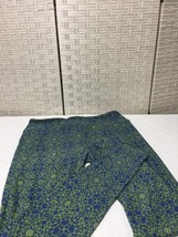 LulaRoe Tall & Curvy Tc Legging Blue Yellow Geometric Velvety Soft Nwot - $9.49
