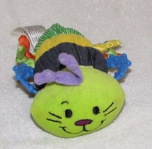 INFANTINO SATIN KNIT MULTI COLOR COLORFUL BABY TEETHER TOY RATTLE CATERP... - $19.79