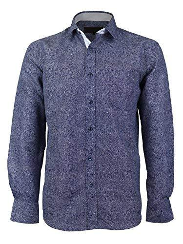 LW Men's Western Cowboy Long Sleeve Button up Rodeo Dress Shirt